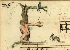 "Initial ""F"" from 'Recueil de Chants Religieux et profanes' (1542), Bibliotheque Municipale, Cambrai."