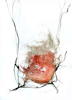 Encre originale de l'art abstrait de dessin - noir et blanc, explosion, moderne, minimal, encre noire, mouvement, encre de l'art, brown, sépia, lavage d'encre rose rouge sur Etsy, $68.08 CAD