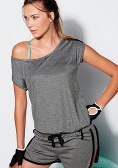 Tylové tričko s krátkymi rukávmi #ModinoSK #modino_sk #modino_style #style #fashion #sport #fitness #sportswear Gym Wear, Athletic Wear, Sport Fashion, Rompers, How To Wear, Outfits, Dresses, Women, Jogging Suits