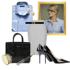 """Claire Underwood 2"" by ashleystar727 on Polyvore, Claire Underwood, House of Cards, Business Professional, Workwear, Classy"
