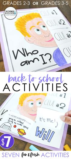 "Back to School Activities ""Get To Know You"" First Week of School - Education & Career First Week Of School Ideas, First Day Of School Activities, Back To School Night, Beginning Of The School Year, High School, School Week, School School, 2nd Grade Classroom, Future Classroom"
