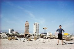 Denise Scott Brown outside Las Vegas in 1966; photograph from the Archives of Robert Venturi and Denise Scott Brown © Frank Hanswijk