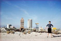 Denise Scott Brown outside Las Vegas in 1966; photograph from the Archives of Robert Venturi and Denise Scott Brown © Frank Hanswijk