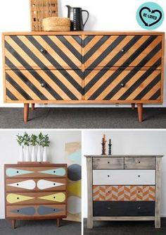 Loving the different looks of these DIY bureaus. So unique!