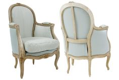 Rococo-Style Bergères, Pair on One Kings Lane today