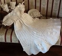 Crochet Christening Gown Pattern Flower Petal