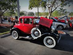 """Location: Car Cruise-In """"The Plaza At Davie"""" FL.. 1931 Ford Model T. Photographer: Tim Sims 04-10-2015"""