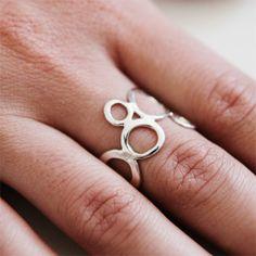 Sterling Silver Seafoam Ring by KajsJewelry.com $75