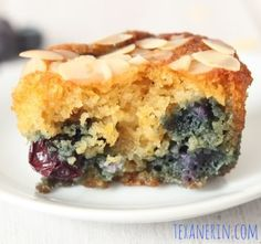 Almond Lemon Blueberry Muffins (grain-free, gluten-free, dairy-free) - Texanerin Baking