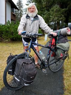 From Russia it took eight years for an around the world trip on a bicycle in 2011