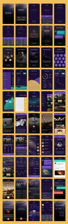 Horizon   Extensive UI Kit on Behance