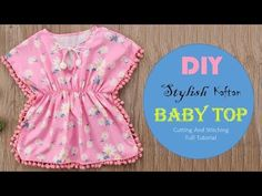 DIY Beautiful Kaftan Baby Top Cutting And Stitching Tutorial - Baby hacks Baby Frock Pattern, Baby Dress Patterns, Kaftan Pattern, Sewing Patterns, Shirt Patterns, Smocking Patterns, Baby Girl Dresses, Baby Outfits, Kids Outfits