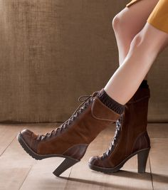 These boots might actually make me want to wear skirts more (and I am NOT a skirt fan)!