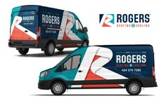 Vehicle wrap design for Rogers Heating & Cooling. Vehicle Signage, Vehicle Branding, Eco Friendly Cars, Vw Cars, Cars Land, Van Wrap, Car Accessories For Girls, Lifted Ford Trucks, Car Ford