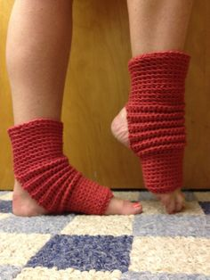 Yoga Socks in Brick Red Cotton US Grown by CarrotCreations on Etsy, $12.00