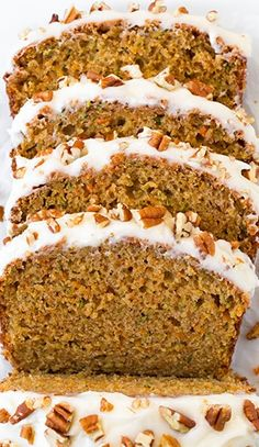 .Zucchini-Carrot Cake....Oh, I mean Bread! That makes it sound so much more healthy...not! Yummy - Yes :)