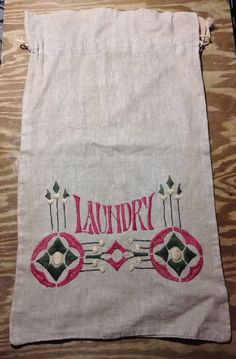 arts and craft embroidery laundry bag 1900