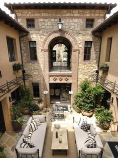 swanky sophisticated courtyard