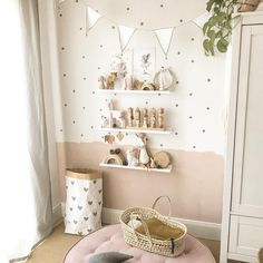 bonus room decorating ideas for kids Baby Bedroom, Baby Room Decor, Baby Zimmer Ikea, Baby Room Design, Nursery Design, Toddler Rooms, Kid Spaces, Girl Room, Room Inspiration