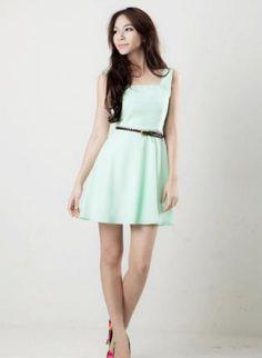 mint skater dress,  Dress, mint  cutout  skater dress, Casual