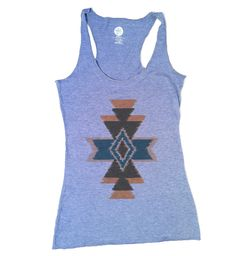 Vintage Aztec Ladies Racerback Tank Everly from The Printed Palette