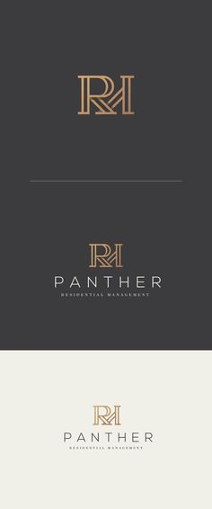 Monogram logo design by spoonlancer for a real estate agent. #typography #residential #wordmark
