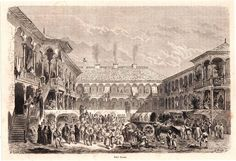 Antique print Manuc s Inn 1869 Hanul lui Manuc, Bucharest Romania