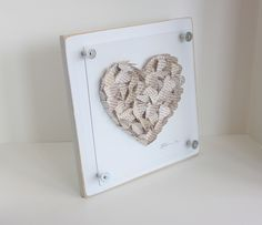 Parents' thank you gift -  Personalized Parents wedding gift thank you / 3d framed wedding hearts. $78.00, via Etsy.