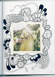 zentangle frame! love this idea!