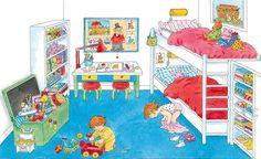 Praatplaat Bas - Slaapkamer  (Getekend door Dagmar Stam)