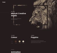 Mishuk - Creative Studio with parallax scroll effect Creative Web Design, Creative Studio, Ui Design, Layout Design, Design Elements, Graphic Design, Webdesign Inspiration, Web Layout, Typography