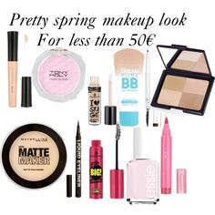 Pretty spring makeup look for less than 50€ by cecechou on Polyvore featuring polyvore, beauté, TONYMOLY, Maybelline, H&M and Essie