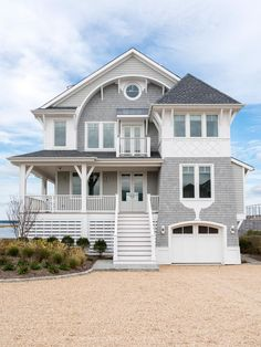 South Hamptons Beach House With Deck and Heated Swimming Pool Beautiful Beach Houses, Dream Beach Houses, Small Beach Houses, Beach House Plans, Beach House Decor, Beach House Designs, House Near Beach, Style At Home, Haus Am See