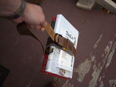diy Old School Book Strap | Wood