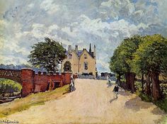 'Inn at Hampton Court Sun' von Alfred Sisley (1839-1899, France)