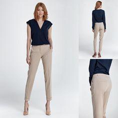 ff48a546c68a Pantalon beige droit mode femme habillé NIFE S 36 M 38 L 40