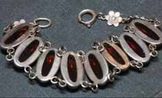 Vintage Fiery Dragons Breath & Sterling Silver Bracelet