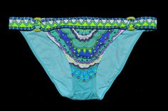 Victoria's Secret Banded Green Paisley Bikini Bottom Small S NEW Swim Swimwear #VictoriasSecret #BikiniBottom #bikini #vkmarketplace