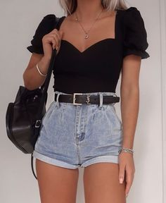 144 casual women spring outfits to copy for 2020 2 Cute Casual Outfits, Girly Outfits, Simple Outfits, Short Outfits, Pretty Outfits, Stylish Outfits, Spring Outfits, Classy Outfits For Teens, Amazing Outfits