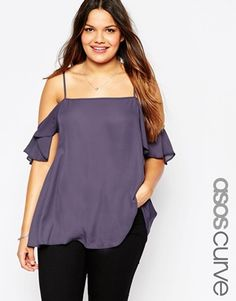 cf6267d40be9e9 Danae Laser Cut Out Cold Shoulder Top