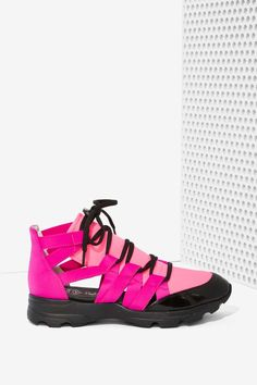 Jeffrey Campbell Vedda Neoprene Trainer at Nasty Gal.I purchased these.I will actually use them for walking and of course style accessory ♥נк∂ Fashion Shoes, Fashion Accessories, High Fashion, Women's Feet, Sport Sandals, Platform Boots, Shoes Sneakers, Women's Shoes, Purses