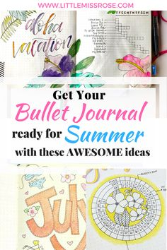 Find some awesome summer ideas for your bullet journal including, layouts, spreads, doodles, themes and tutorials for you bujo Bullet Journal For Beginners, Bullet Journal How To Start A, Bullet Journal Junkies, Bullet Journal Layout, Bullet Journal Inspiration, Bullet Journals, Bujo, Journal Themes, Journal Ideas
