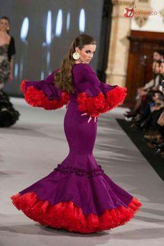 Indian Gowns Dresses, Gala Dresses, Dance Dresses, Flamenco Dresses, Flamingo Outfit, Flamenco Costume, Gypsy Women, Spanish Fashion, Tribal Dress