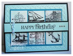 Nautical Birthday Card