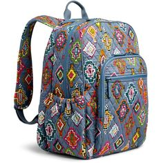 Vera Bradley Campus Tech Backpack ( 108) ❤ liked on Polyvore featuring bags,  backpacks 5901f2f4e3
