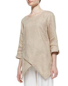 Linen Asymmetric Long Tunic by Go Silk at Neiman Marcus.