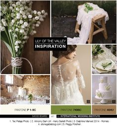 Wedding Inspiration Board Lily of the Valley - Planche d'inspiration mariage muguet - International Wedding Institute Style Ethnique, Inspirations Magazine, Lily Of The Valley, Marie, Wedding Inspiration, Mood, Wedding Dresses, Collection, Deco