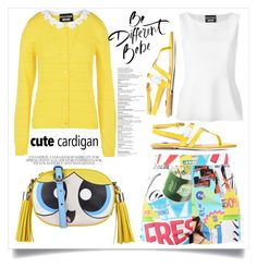 """""""Be Different !"""" by alaria ❤ liked on Polyvore featuring Boutique Moschino, Moschino, cutecardigan and springlayers"""