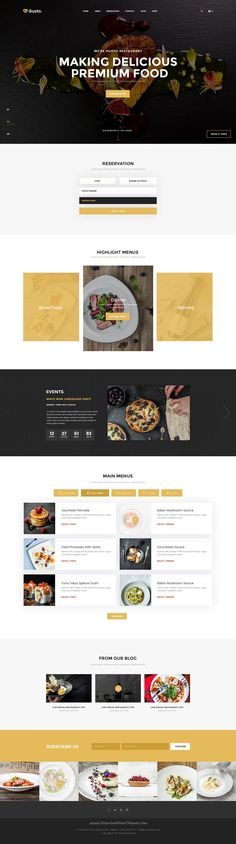 Gusto is a wonderful 9 in 1 #PSD template for café, bar or seafood #restaurant website download now➝ https://themeforest.net/item/gusto-restaurant-caf-bar-seafood-restaurant-psd-template/16815594?ref=Datasata
