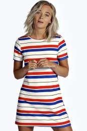 Petite Patsy Striped Shift Dress